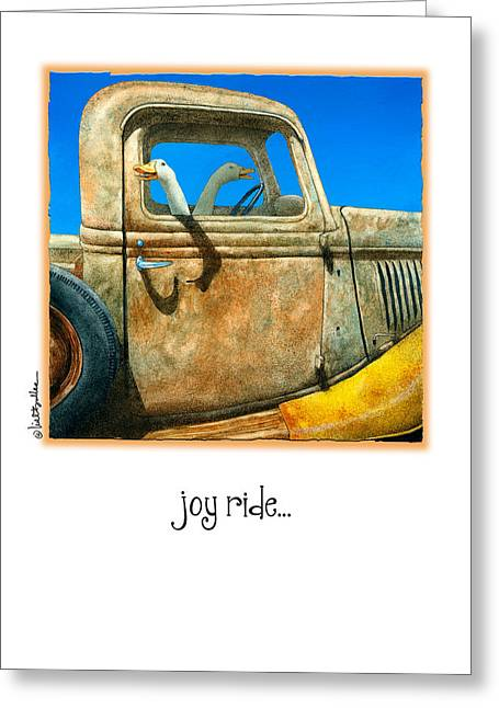 Joy Ride... Greeting Card by Will Bullas