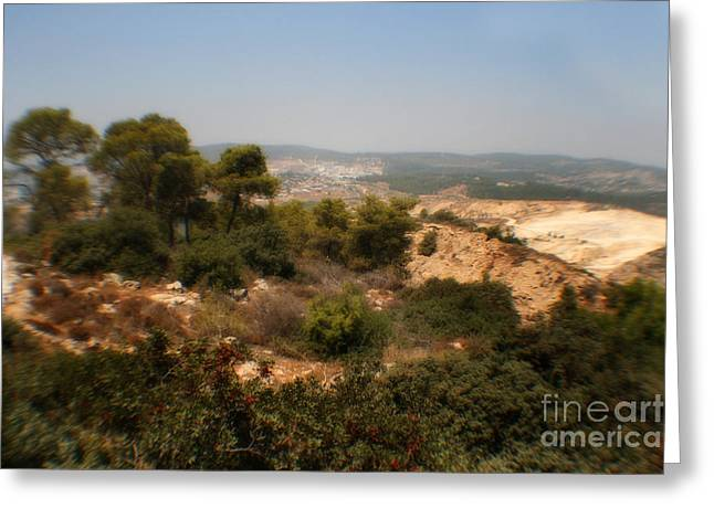 Sand Pattern Greeting Cards - Judean Hills Greeting Card by Michael Braham