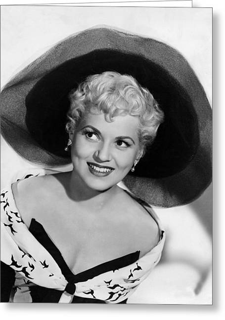 Yesterday Greeting Cards - Judy Holliday in Born Yesterday  Greeting Card by Silver Screen