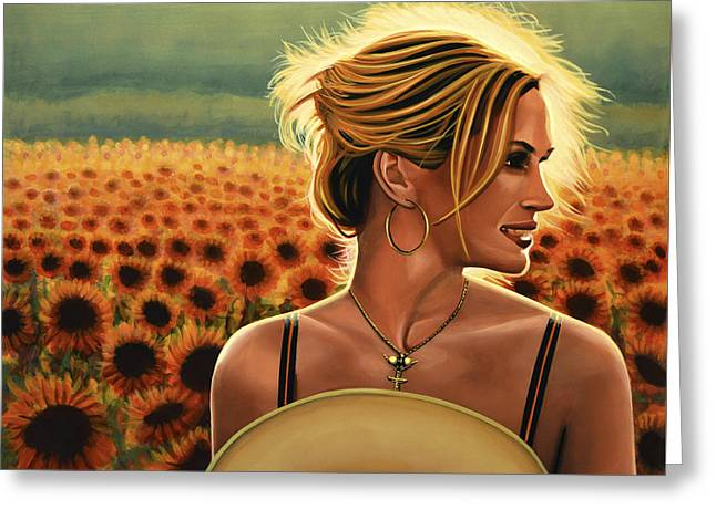 Mystic Art Greeting Cards - Julia Roberts Greeting Card by Paul  Meijering