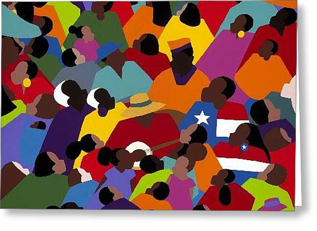 Recently Sold -  - Slavery Greeting Cards - Juneteenth Greeting Card by Synthia SAINT JAMES