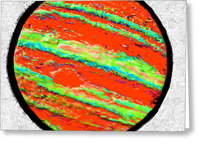 Luminous Body Greeting Cards - Jupiter in Many Colors Greeting Card by Bruce Nutting