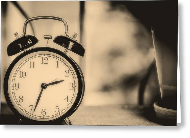 Soft Clocks Greeting Cards - Just Past Two-Thirty Greeting Card by Obpia30