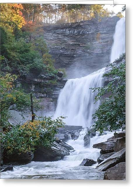 Square Format Greeting Cards - Kaaterskill Falls Square Greeting Card by Bill  Wakeley