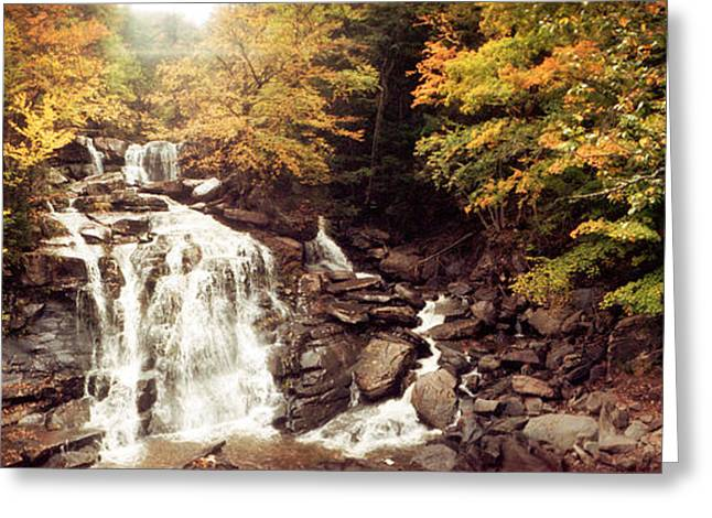Fall Colors Greeting Cards - Kaaterskill Falls Stream Greeting Card by Panoramic Images