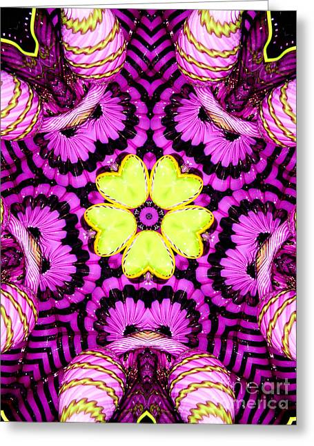 Best Sellers -  - Patterned Greeting Cards - Kaleidoscope of Blown Glass Greeting Card by Amy Cicconi