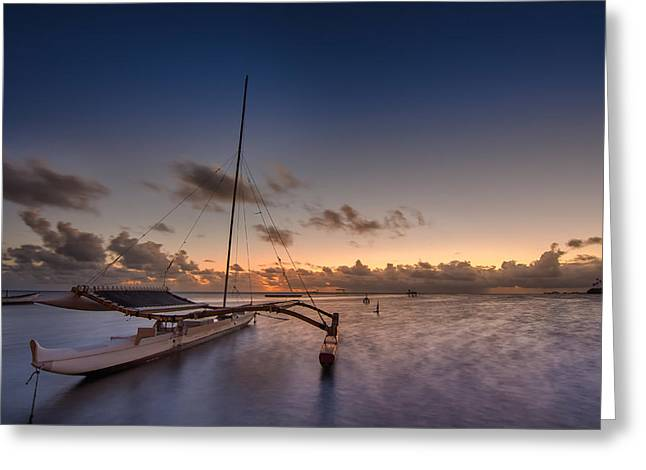 Top Seller Greeting Cards - Kaneohe Bay Sunrise Greeting Card by Tin Lung Chao