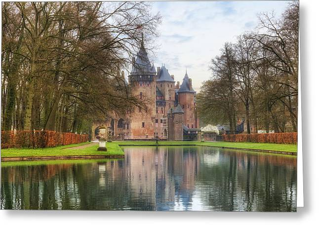 Moat Greeting Cards - Kasteel de Haar Greeting Card by Joana Kruse