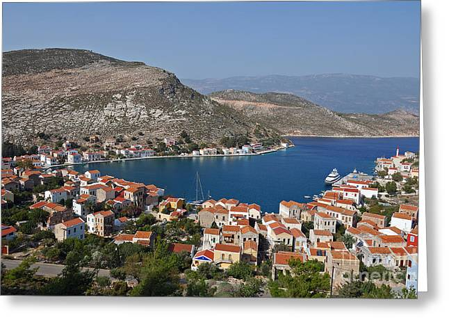 Dodekanissos Greeting Cards - Kastelorizo island Greeting Card by George Atsametakis