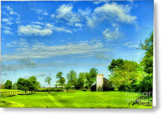 Ranch Digital Art Greeting Cards - Kentucky Countryside Greeting Card by Darren Fisher