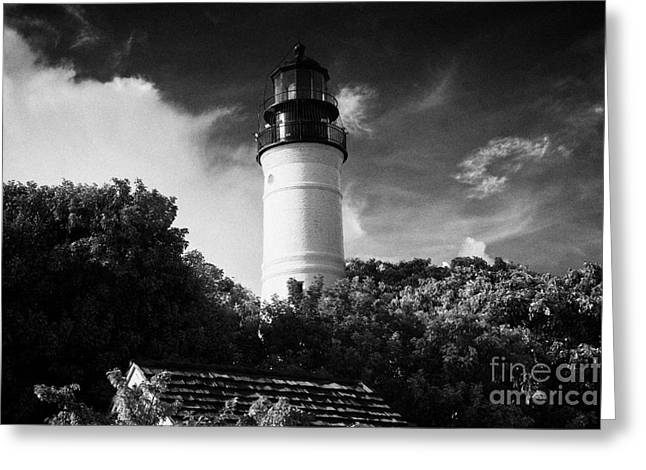 Florida House Greeting Cards - Key West Lighthouse Florida Usa Greeting Card by Joe Fox