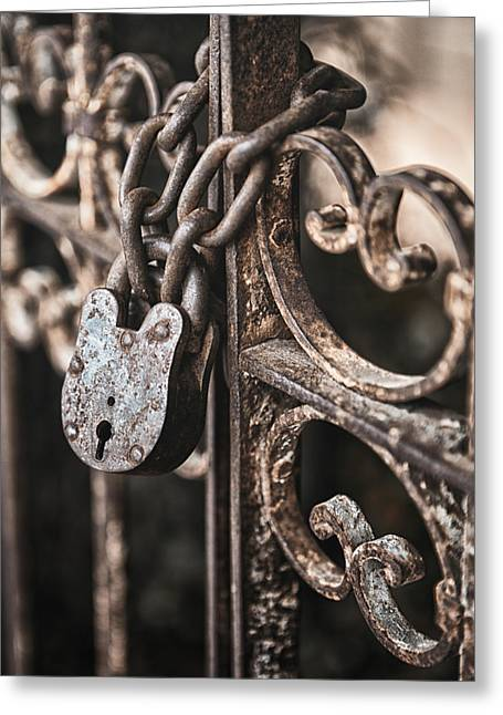 Filigree Greeting Cards - Keyless Greeting Card by Caitlyn  Grasso