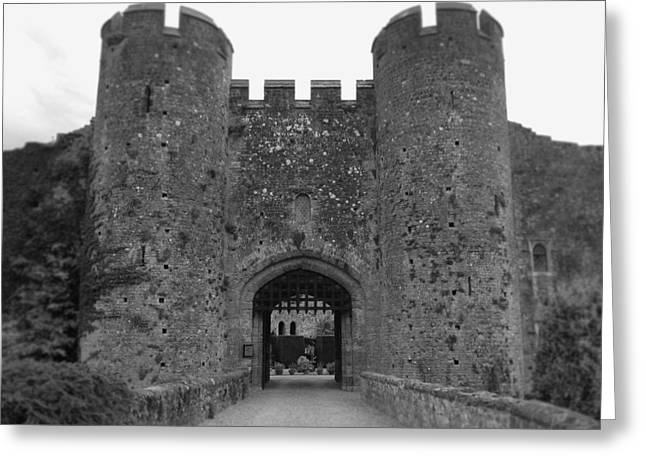 Keys To The Castle - Black And White Greeting Card by Nicole Parks