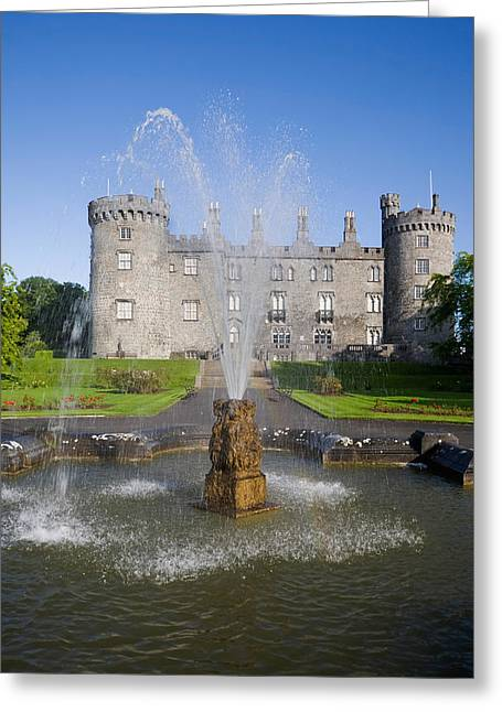 Reconstruction Greeting Cards - Kilkenny Castle - Rebuilt In The 19th Greeting Card by Panoramic Images