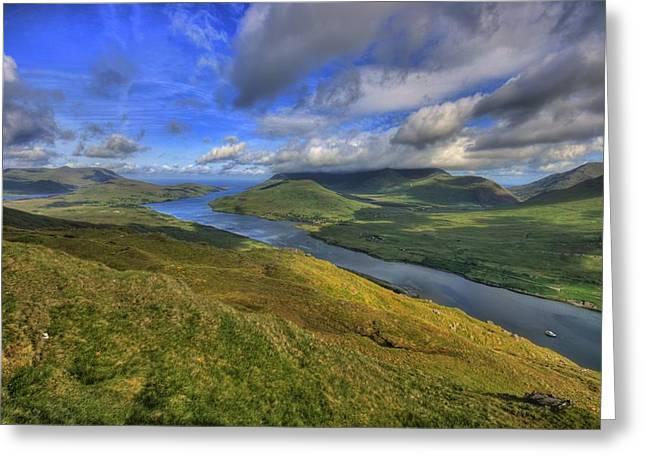 County Galway Greeting Cards - Killary Harbor Greeting Card by John Quinn