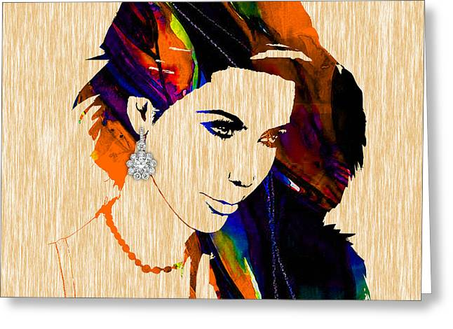 Reality Mixed Media Greeting Cards - Kim Kardashian Collection Greeting Card by Marvin Blaine