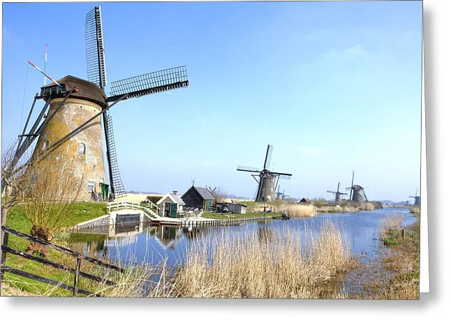 Unesco Greeting Cards - Kinderdijk Greeting Card by Joana Kruse