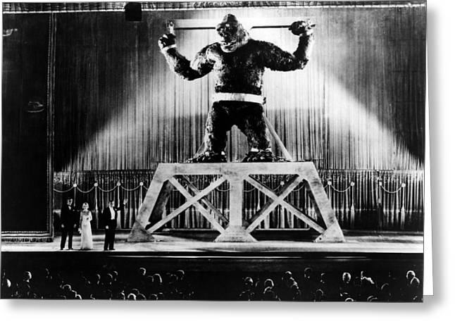 King Kong Greeting Cards - King Kong  Greeting Card by Silver Screen
