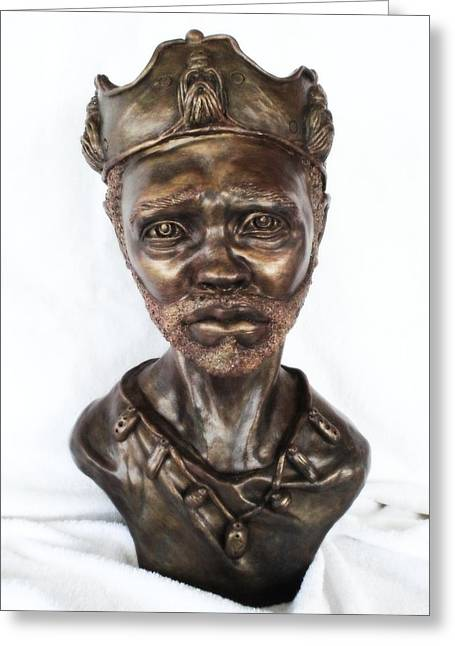 Figurative Sculpture Sculptures Greeting Cards - King of Sorrow Greeting Card by Wayne Niemi
