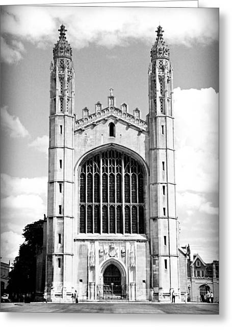 The Vault Greeting Cards - Kings College Chapel Greeting Card by Stephen Stookey