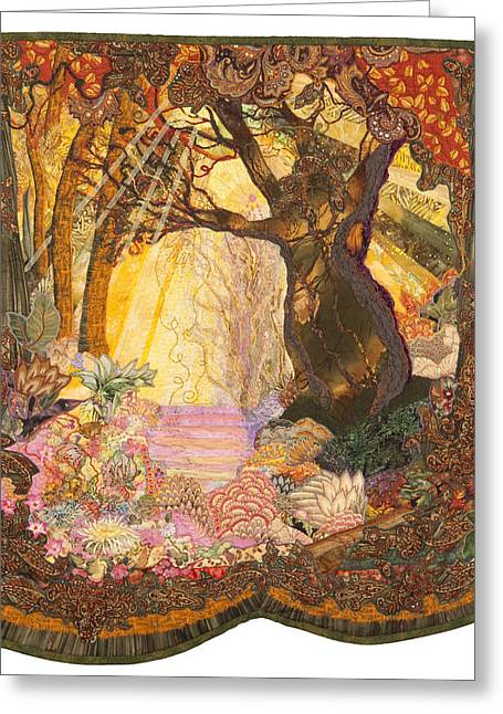 Outdoors Tapestries - Textiles Greeting Cards - Kiss of the Spirit Greeting Card by Carol Bridges