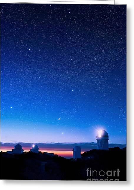 Steward Greeting Cards - Kitt Peak National Observatory At Night Greeting Card by David Nunuk