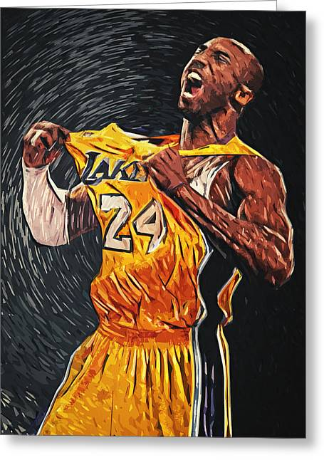 Lebron James Greeting Cards - Kobe Bryant Greeting Card by Taylan Soyturk