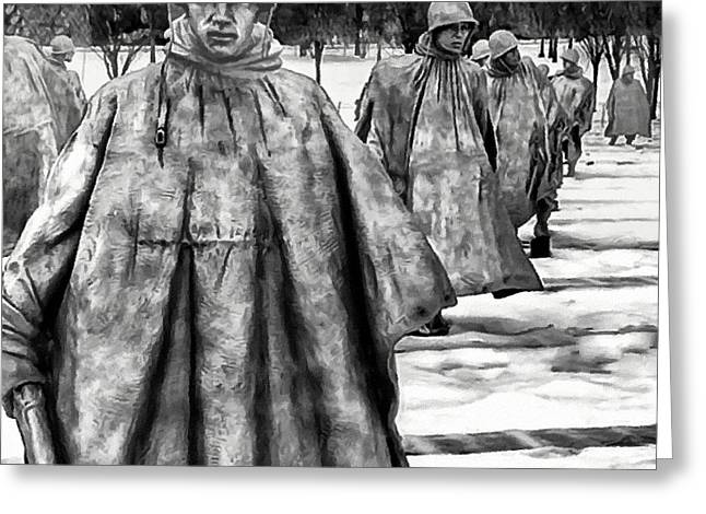 Brigade Greeting Cards - Korean War Memorial Washington DC Greeting Card by  Bob and Nadine Johnston