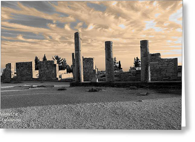 Kourion-temple Of Apollo Greeting Card by Augusta Stylianou