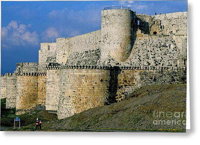 Chevalier Photographs Greeting Cards - Krak Des Chevaliers, Syria Greeting Card by Adam Sylvester