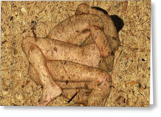 Couple Embracing Greeting Cards - Kuma Sutra Greeting Card by Kurt Van Wagner