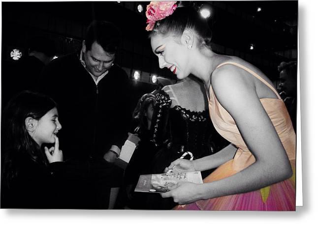 Lincoln Center Greeting Cards - La Petite et La Ballerine Greeting Card by Natasha Marco