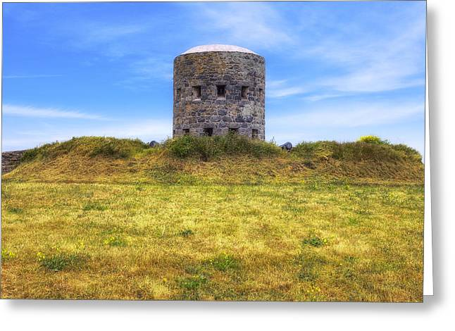 Guernsey Greeting Cards - La Rousse Tower - Guernsey Greeting Card by Joana Kruse