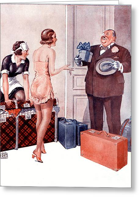 La Vie Parisienne 1920s France Cc Greeting Card by The Advertising Archives