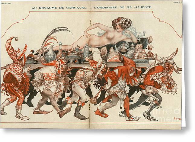 La Vie Parisienne 1926 1920s France Greeting Card by The Advertising Archives