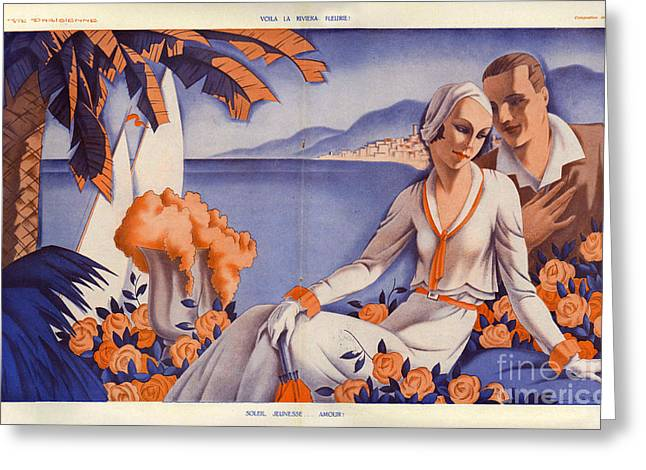 La Vie Parisienne  1931 1930s France Cc Greeting Card by The Advertising Archives