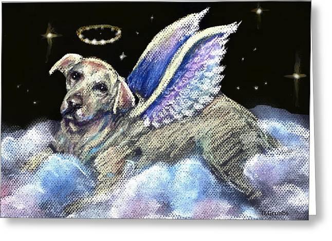 Labradors Pastels Greeting Cards - Labrador Retriever Angel Greeting Card by Darlene Grubbs