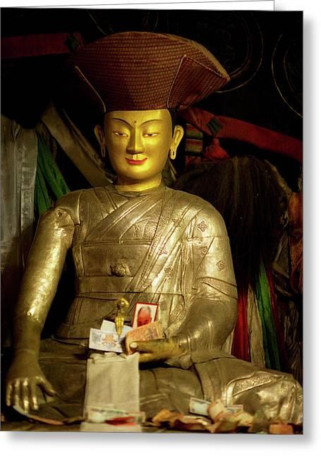 Ladakh, India The Interior Of The Hemis Greeting Card by Jaina Mishra