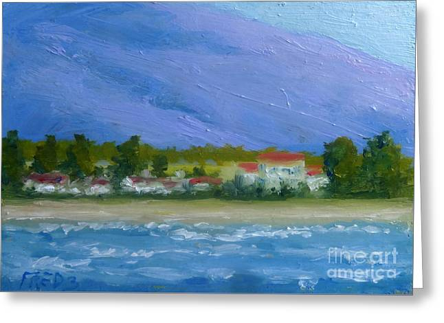 Lahaina Greeting Cards - Lahaina Shore Greeting Card by Fred Wilson