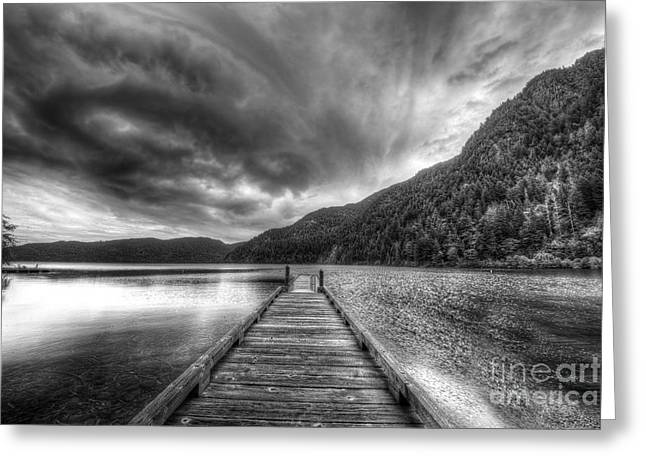 Lake Crescent Greeting Cards - Lake Crescent in Olympic National Park Greeting Card by Twenty Two North Photography
