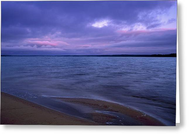 Storm Clouds Greeting Cards - Lake Peno Greeting Card by Anonymous