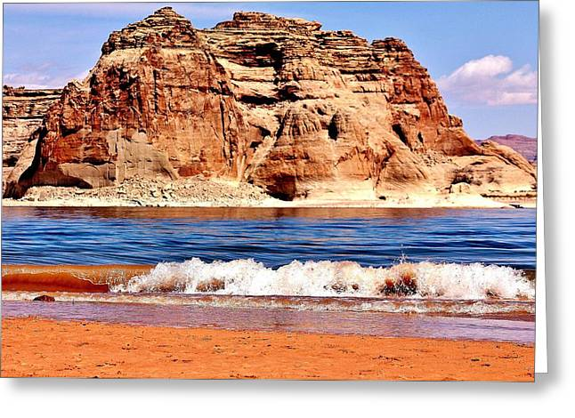 Desert Lake Greeting Cards - Lake Powell Greeting Card by Benjamin Yeager