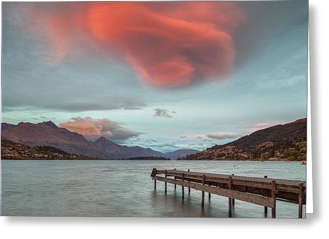 Awed Greeting Cards - Lake Wakatipu Queenstown New Zealand Greeting Card by Colin and Linda McKie