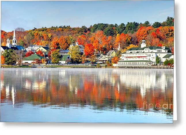 Recently Sold -  - New England Village Greeting Cards - Lake Winnipesaukee Greeting Card by Denis Tangney Jr