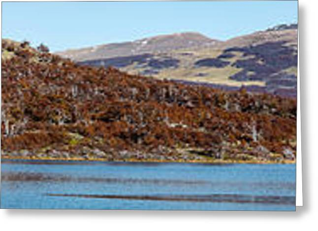 Santa Cruz Greeting Cards - Lake With A Mountain Range Greeting Card by Panoramic Images