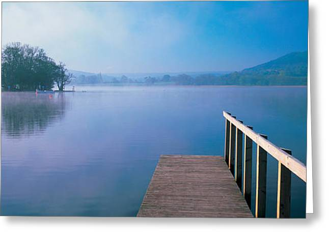 Brecon Beacons Greeting Cards - Lake With Mountains In The Background Greeting Card by Panoramic Images