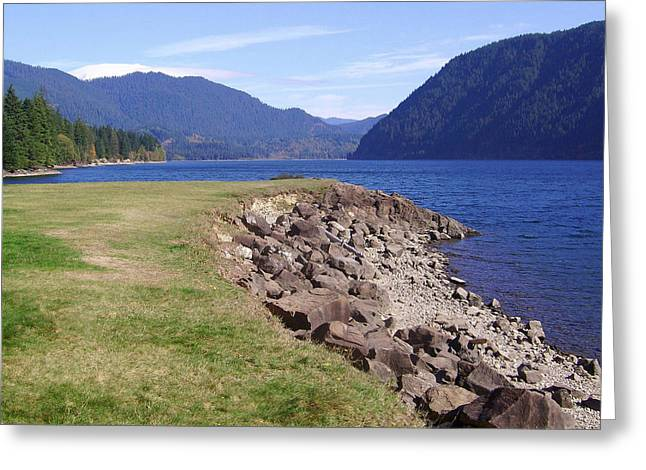 Pacific Northwest Greeting Cards - Lakes 3 Greeting Card by J D Owen