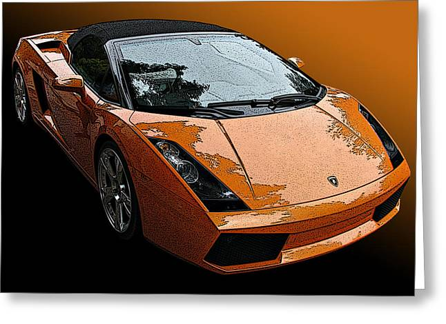 Lamborghini Gallardo Spyder Greeting Card by Samuel Sheats