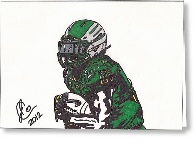 Ncaa Drawings Greeting Cards - LaMicheal James Greeting Card by Jeremiah Colley