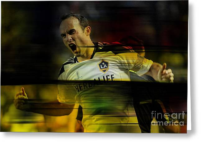 Landon Donovan Greeting Card by Marvin Blaine
